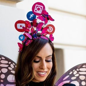 Social Butterfly crown for Halloween